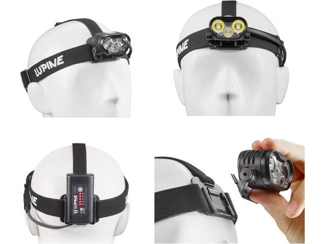 Lupine Blika RX 4 SmartCore hoofdlamp zwart